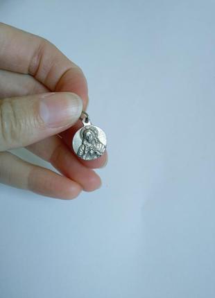 Кулон с иконкой серебро 925