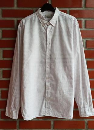 Mango белая рубашка в полоску размер xxl