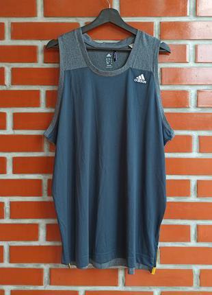 Adidas g84444 серая мужская майка размер xl адидас