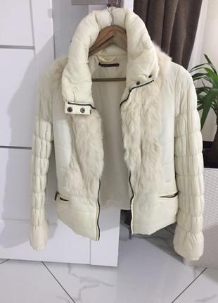 Куртка gaudi із хутром кролика
