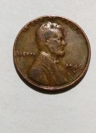 Продам монету 1 cent USA 1946 г.