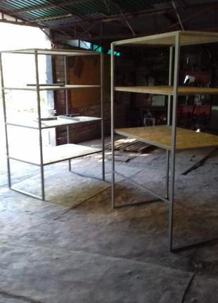 Стеллаж в склад, гараж, кладовку, киоск, мастерскую