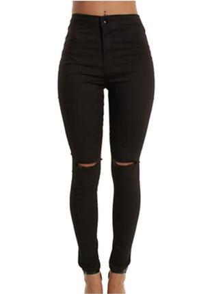 Чёрные зауженные джинсы skinny!