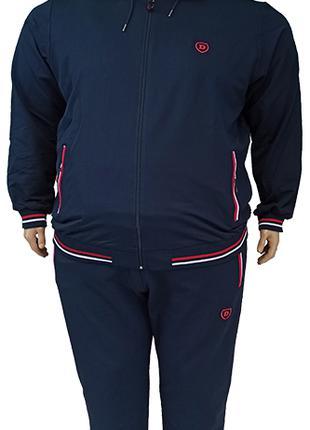 Большого размера мужской спортивный костюм с капюшоном