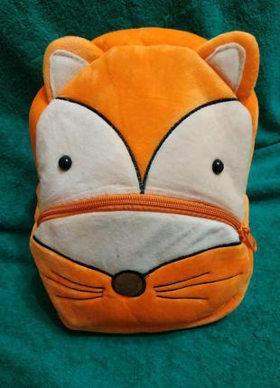 Детский плюшевый рюкзак лисичка