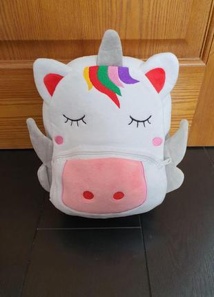 Новый детский рюкзак сказочный единорог