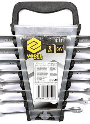 Набор рожковых гаечных ключей 6-22мм Vorel 51741