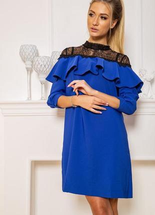 Платье  цвет электрик