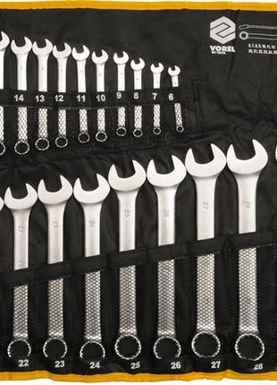 Набор комбинированных ключей в брезенте Vorel 51715 6-32мм