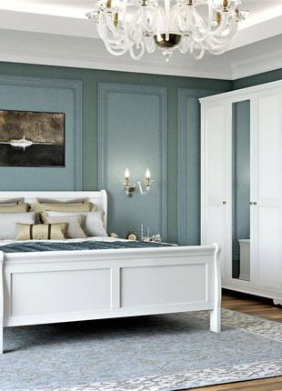Белый спальный гарнитур Луи Филиппе из дерева