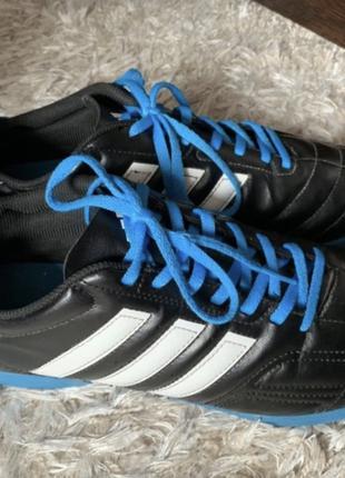 Сороконожки Adidas кожаные бутсы, футзалки, 29,5 см стелька