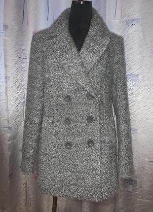 Классное шерстяное двухбортное пальто удлинённый пиджак ❤️