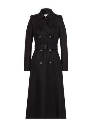 Черное пальто тренч от  ivy & oak.