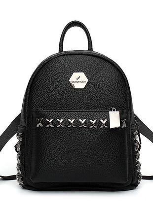 Черный, женский рюкзак