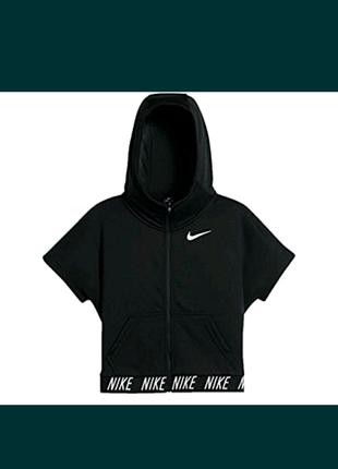 Спортивная кофта с коротким рукавом,кроп топ,Nike dri-fit origina