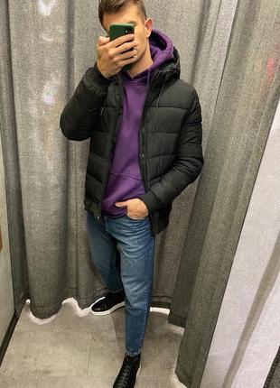 Теплая мужская курточка! зимняя куртка с капюшоном
