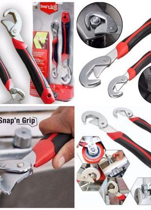 Ключ Snap N Grip 2 в 1. Универсальный ключ