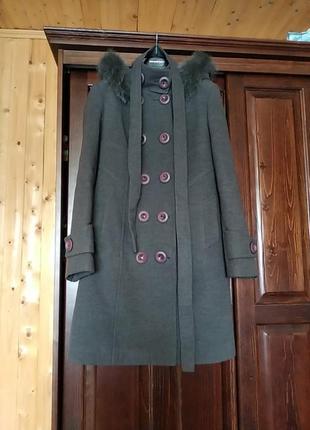 Зимове натуральне кашамірове пальто