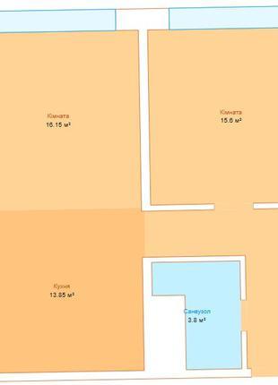 Продается однокомнатная квартира свободной планировки в Аркадии
