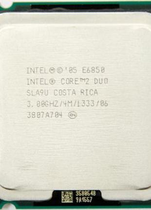 Core 2 Duo Conroe E6850/E6750/E6550 s775. 3.0/2.67/2.33ghz