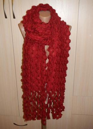 Теплый шарф tayberry р.185см х 19см