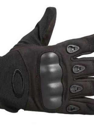 Перчатки тактические полнопалые (черные)
