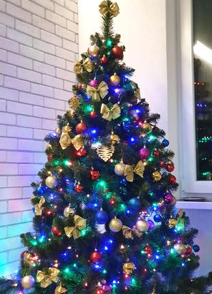 Ёлка елка ялинка 2 метра с игрушками и гирляндой