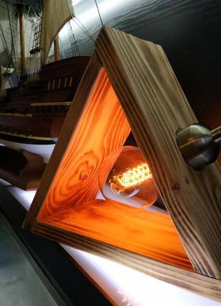 Ретро светильник,лофт,лампа эдисона,деревянный настольный свет...