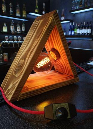 Ретро лампа,лампа Эдисона,еко,деревянный светильник,лофт