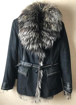 Куртка трансформер с чернобуркой , на подкладке из кролика