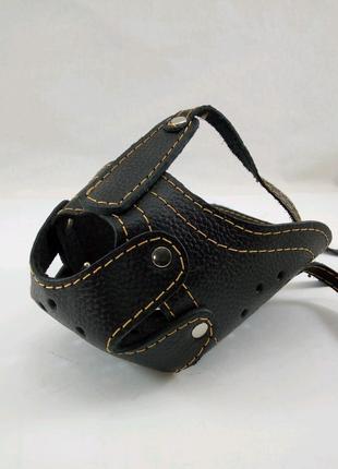 Намордник кожаный ротвеллер с петелькой для ошейника
