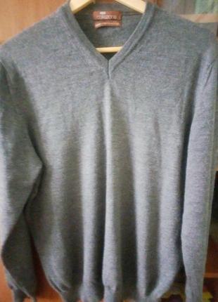 Свитер, пуловер, джемпер унисекс шерсть мериноса+ шелк