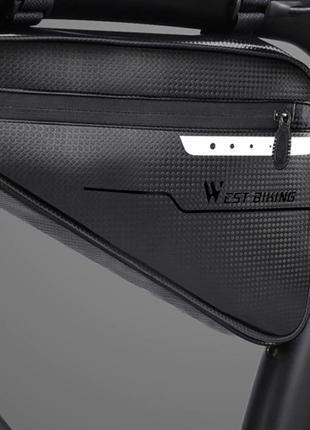 Водонепроницаемая подсидельная сумка West Biking под раму, велосу