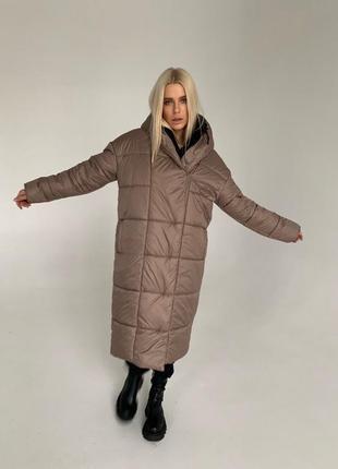 Куртка пуховик женская длинная зима 399