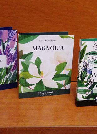 Lavande, Magnolia, Verveine від Fragonard 2ml.