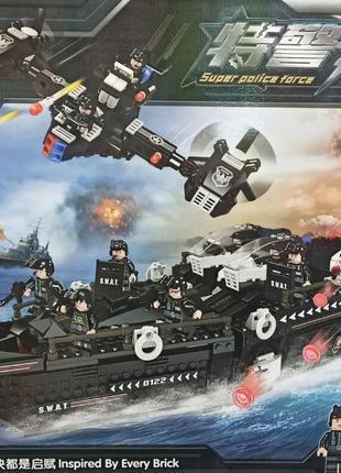 """Конструктор """"Полицейский корабль"""" 1224дет QL0122 Лего Lego"""