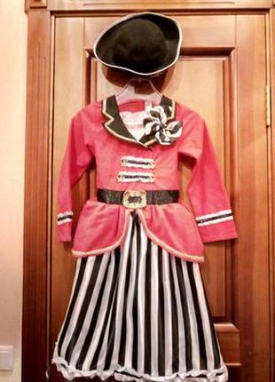Костюм платье пиратки на 9, 10 лет прокат