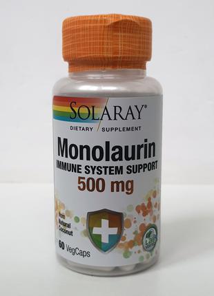Монолаурин Solaray, 500 мг, 60 капсул
