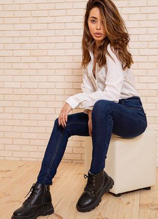 Зимние джинсы женские утепленные на флисе