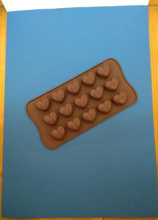 """Форма силиконовая для конфет, шоколада """"Сердце"""""""