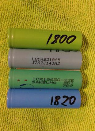 Aккумуляторные Литий-Ионные Батарейки Форматом 18650 3.7V Б/У.