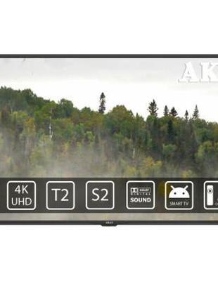Телевизор AKAI UA55LEP1UHD9 + BT Voice RC 55 дюймов. Магазин. Нов
