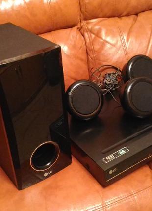 Домашний кинотеатр, акустическая система LG DVD,Сабвуфер,колонки