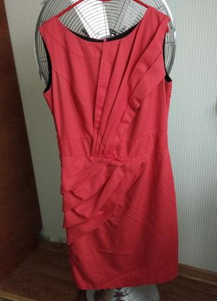 Платье-миди цвета коралл от reflex