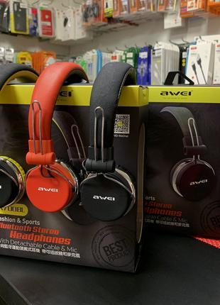 Беспроводные наушники с микрофоном Bluetooth AWEI A700BL