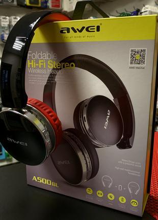 Беспроводные наушники с микрофоном Bluetooth AWEI A500BL