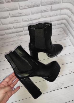 Ботильоны ботинки на платформе и каблуке асос asos