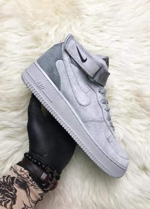 Кроссовки мужские nike air force suede gray