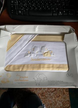 Комплект постельного для новорожденного в коляску