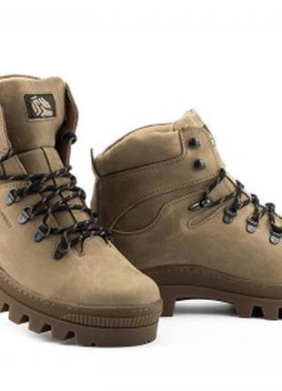 Мужские ботинки кожаные зимние оливковые